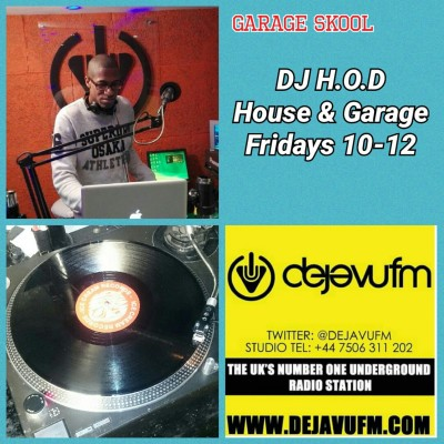 DJ H.O.D House & Garage Fridays 4/11/16
