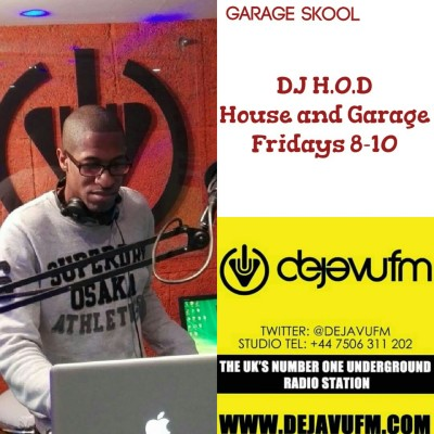 DJ H.O.D House & Garage Fridays 23/09/16