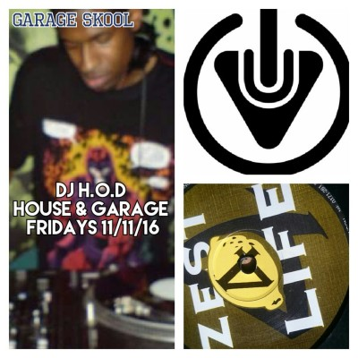 DJ H.O.D House & Garage Fridays 11/11/16 Listen Back